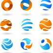 Abstract globe icons — Stock vektor