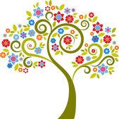 Dekoracyjne drzewo - 2 — Wektor stockowy