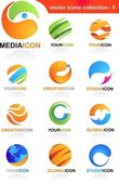 Abstract global business icons — Wektor stockowy