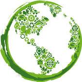 Eco concept planet - 2 — Stock Vector