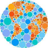 Colorful circle globe — Stock Vector