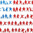 Royalty-Free Stock Vector Image: Human icons USA flag 2
