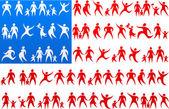 Human icons USA flag 1 — Stock Vector