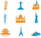 International landmark icons — Stock Vector
