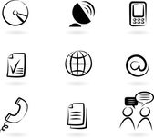 Communication icons 2 — Stock Vector