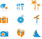 Tourism and vacation icons and logos - 2 — Stock Vector