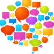图库矢量图片: Colorful speech bubbles