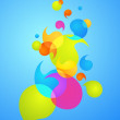 Royalty-Free Stock Vector Image: Colorful bubble background - 3