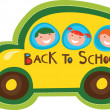 Back to school bus — Stockvectorbeeld