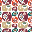 Royalty-Free Stock Imagem Vetorial: Decorative floral  wallpaper pattern