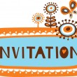 Cute invitation template - Image vectorielle