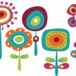 Royalty-Free Stock Vectorielle: Cute colorful flowers