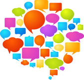 Bolle di discorso colorato — Vettoriale Stock