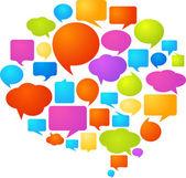 Burbujas coloridas discurso — Vector de stock