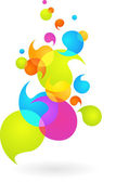 Colorful bubble background - 2 — Stock Vector