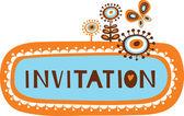 かわいい招待状のテンプレート — ストックベクタ