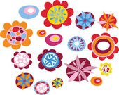 Decorative flowers — Vector de stock