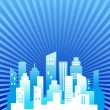 Blue real estate background — Image vectorielle