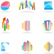 Real estate and construction icons / logos - 2 — Stock Vector