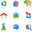 Real estate icons / logos — Stock Vector