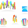 Real estate and construction icons / logos - 3 — Stock Vector