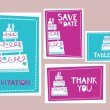 Wedding cards - Imagen vectorial