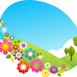 Summer in the countryside - Stock Vector