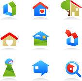 Real estate icons / logos — Stock Vector