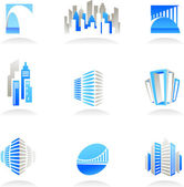 Real estate and construction icons / logos — Stock Vector