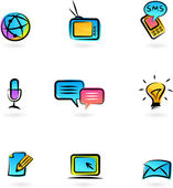 Communication icons 3 — Stock Vector
