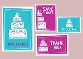 Düğün kartları — Stok Vektör