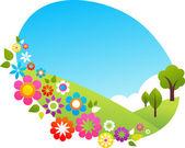Verão na zona rural — Vetorial Stock