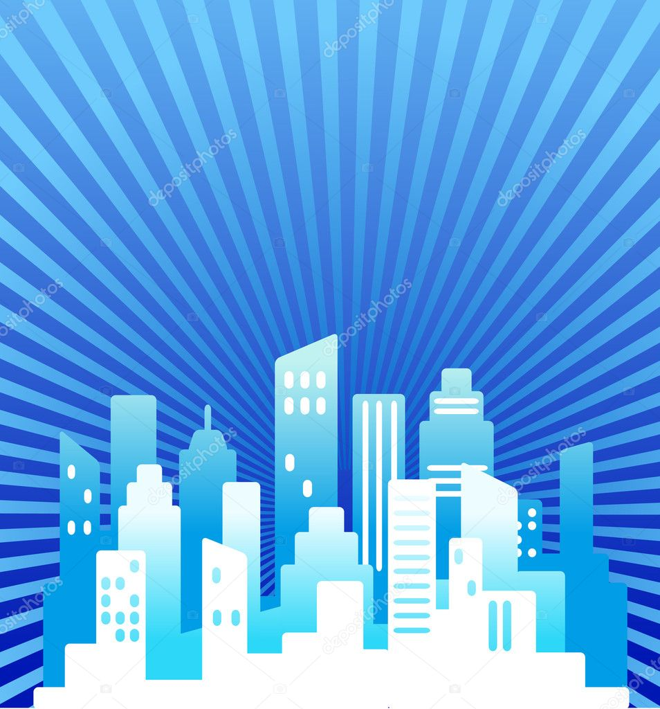 Blue abstract real estate background — Stock Vector #3273192