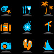 Tourism and vacation icons and logos - 3 — Stock Vector