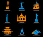 International landmark icons - 2 — Stock Vector
