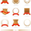 Insignia collection - Stock Vector