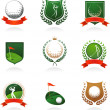 Golf insignia — Vettoriale Stock #3322450
