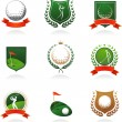 Golf insignia - Stockvectorbeeld