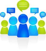 Komunikacji w biznesie — Wektor stockowy