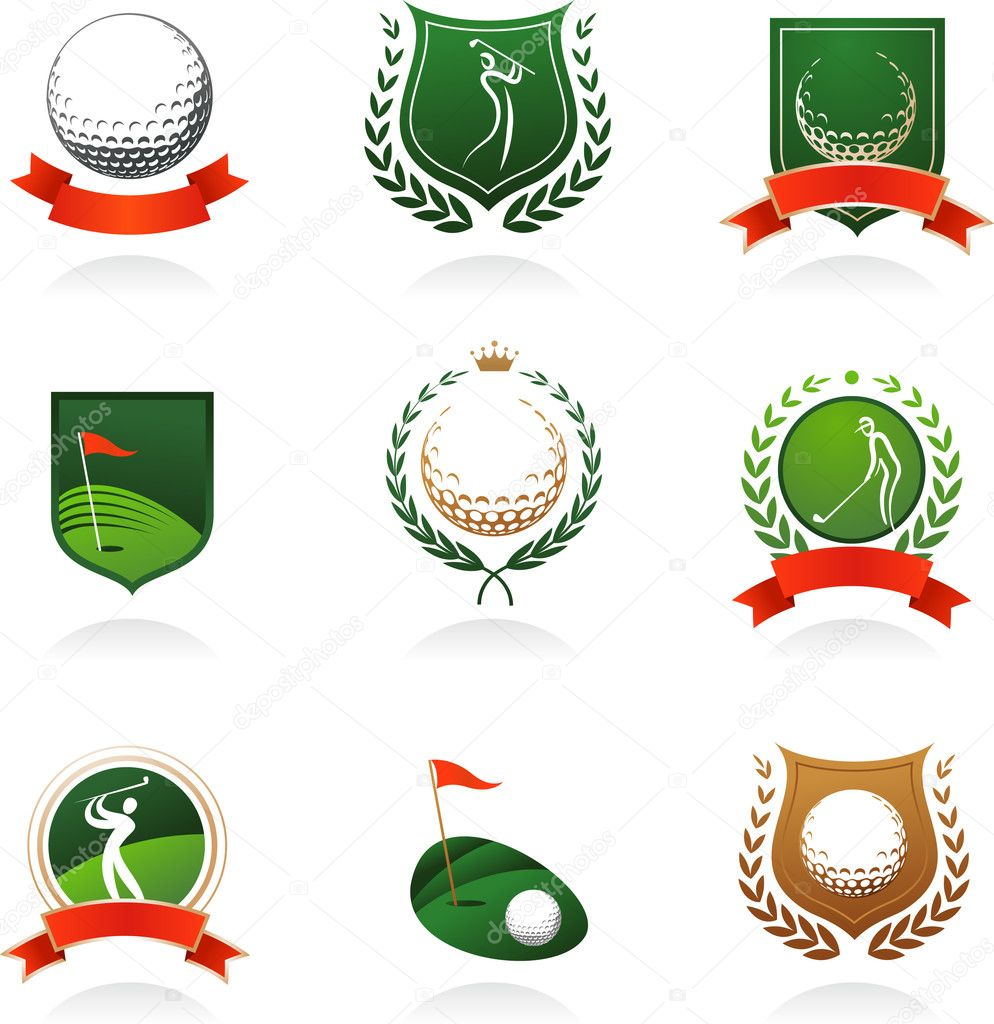 Collection of golf labels, badges and icons — Stock Vector #3322450