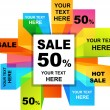 Sale backgrounds — Image vectorielle