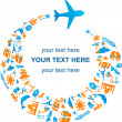 Royalty-Free Stock Vector Image: Traveling by air