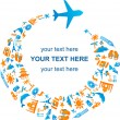 Royalty-Free Stock Imagen vectorial: Traveling by air