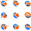 Abstract sport icons — Stockvektor