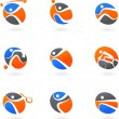 Abstract sport icons — Imagen vectorial