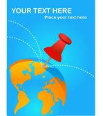 Travel destinations poster — Stock Vector