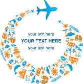 Viajando de avião — Vetorial Stock