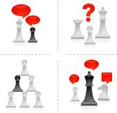 Chess metaphors - 3 — Stock Vector