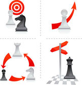 Chess metaphors - 2 — Stock Vector