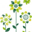Vector de stock : Eco flowers - 1